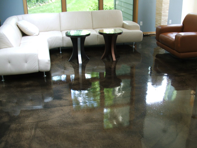 Living/ Dinning Room- Decorative Concrete