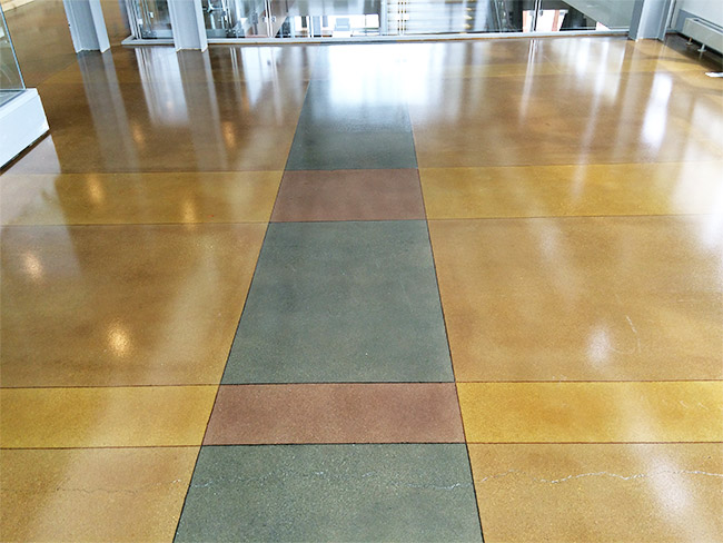 Stained concrete milwaukee wi floorcare usa for Caring for polished concrete floors